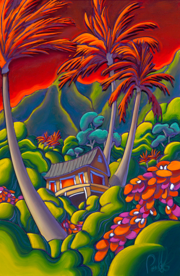 Hawaiian Nights Matted Print 8x10 (11x14 mat)