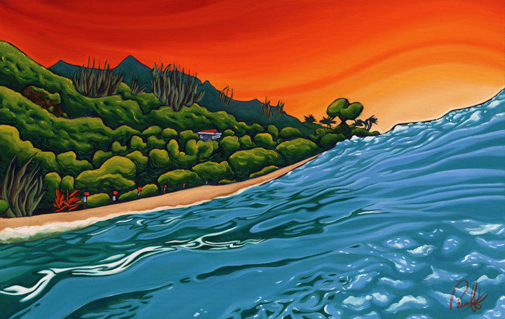 In the Heat of Ha'ena Perfect Giclee on Metal