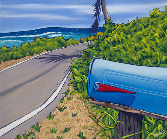 Island Mail Perfect Giclee on Metal