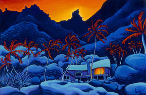Jungle Twilight Perfect Giclee on Metal