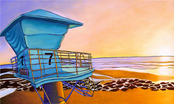 Low Tide at Tower 7 Perfect Giclee on Metal