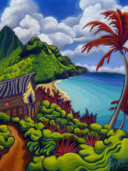 Na Pali Trails Mini Giclee on Metal
