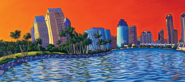 San Diego Alive Perfect Giclee on Metal