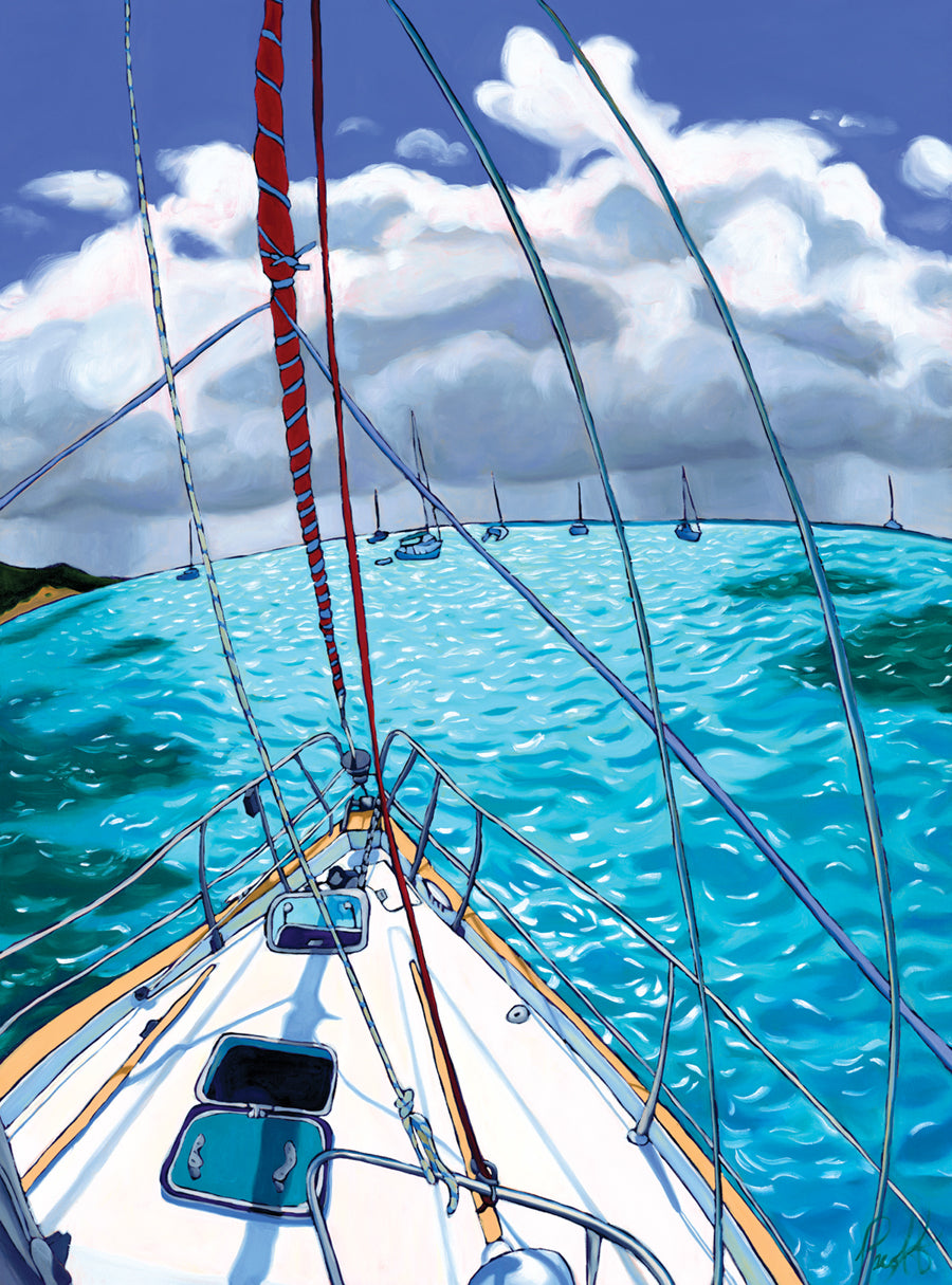 Stormy Skies Over the Tobago Cays Matted Print 8x10 (11x14 mat)