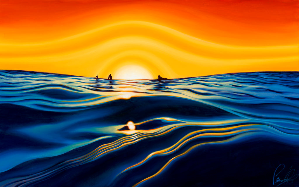 Sunset Glass Matted Print 10x8 (14x11)