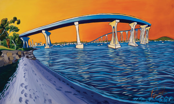 The Blue Bridge Perfect Giclee on Metal