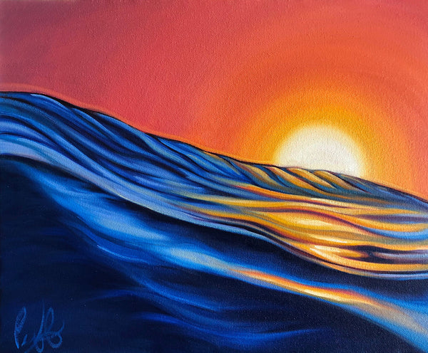 Warmth of a Sunset Wave