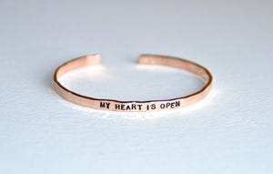 Thin Bracelet 14K Rose Gold - MY HEART IS OPEN
