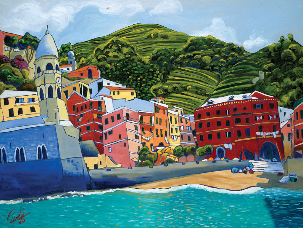 Vernazza Perfect Giclee on Metal