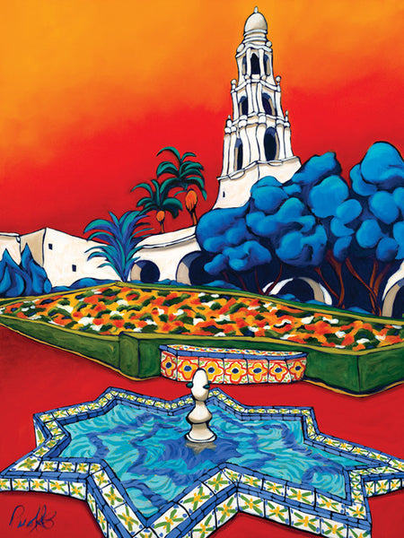 Vibrancy in the Park Perfect Giclee on Metal