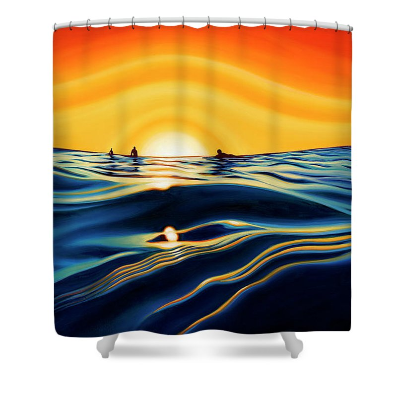 Sunset Glass - Shower Curtain