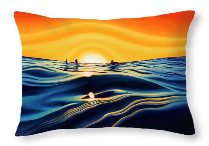 Sunset Glass - Throw Pillow