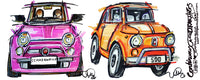 Fiat 500's - Classic and Contemporary | #ContinuousCar |  Mug