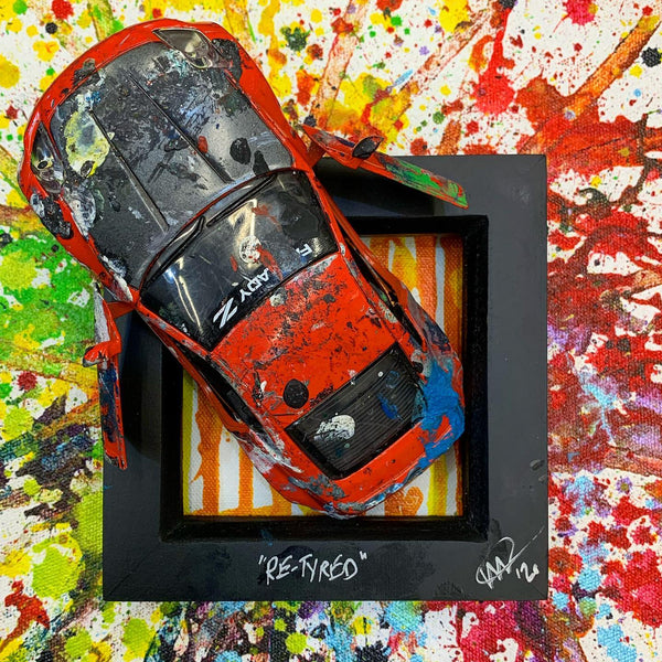 Small PopBangColour 'Re-Tyred' |  Nissan 350Z / Fairlady | BATCH 2 - POPBANGCOLOUR Shop