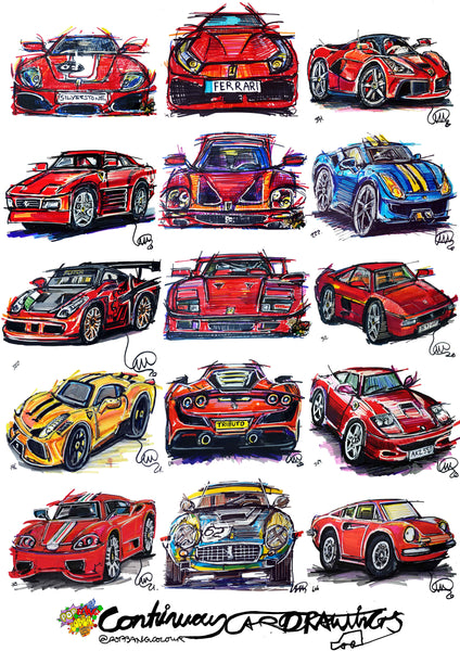 #ContinuousCar poster print collection | Ferrari