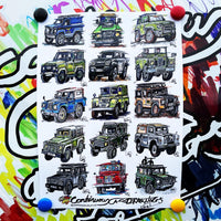 #ContinuousCar poster print collection | Land Rover