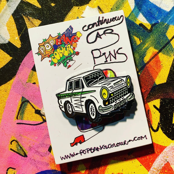 Limited edition Lotus Cortina 'Mike Brewer' enamel pin badge - | 100  only