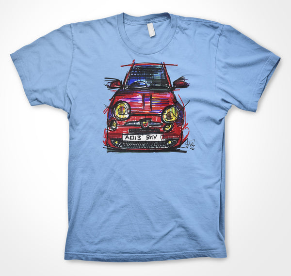 Abarth 500 #ContinuousCar Unisex T-shirt