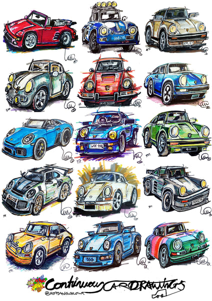 #ContinuousCar poster print collection | Porsche