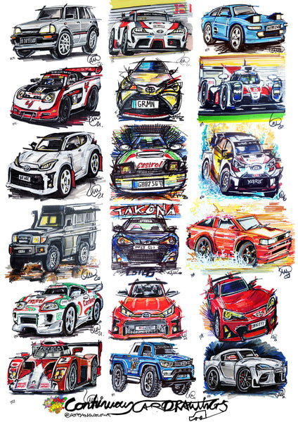 #ContinuousCar poster print collection | Toyota