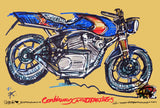 ASE Custom Motorcycles | #ContinuousCar metal print | 30cm x 20cm