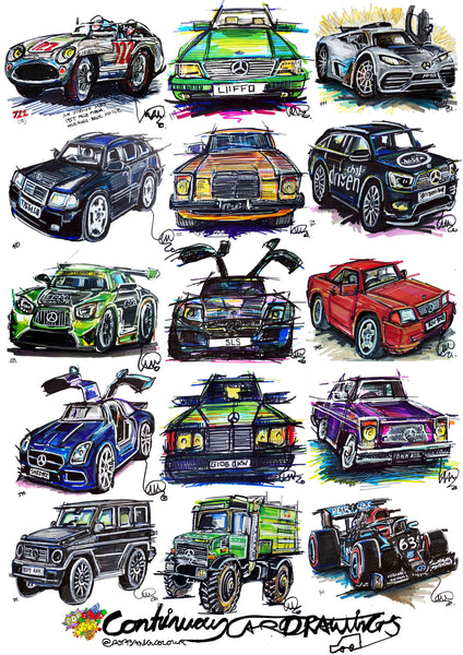 #ContinuousCar poster print collection | Mercedes-Benz