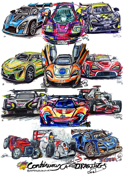 #ContinuousCar poster print collection | McLaren