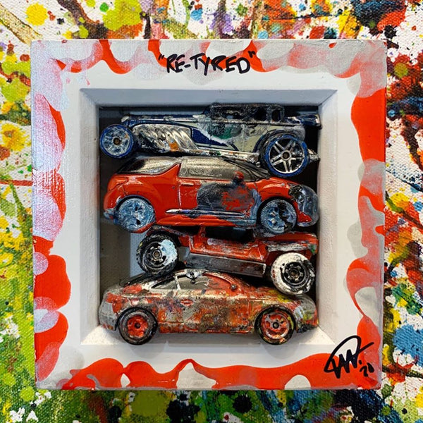 Small PopBangColour 'Re-Tyred' | Red car Scrapyard | BATCH 2 - POPBANGCOLOUR Shop