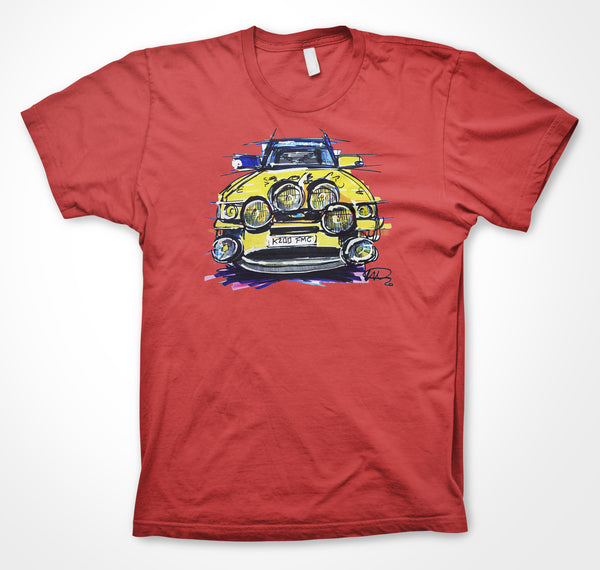 Ford Escort Cosworth Rally #ContinuousCar Unisex T-shirt