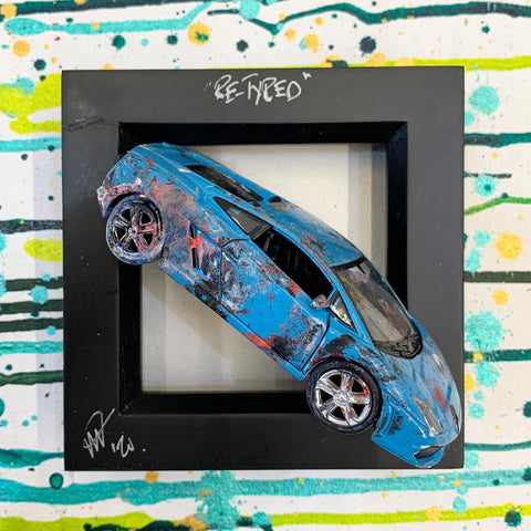 Small PopBangColour 'Re-Tyred' Lamborghini