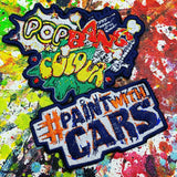 Sew-on patch 'PopBangColour' & #PaintWithCars - POPBANGCOLOUR Shop