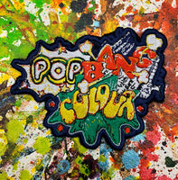 Sew-on patch 'PopBangColour' - POPBANGCOLOUR Shop
