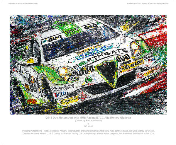 BTCC Duo Motorsport with HMS Racing Alfa Romeo Giulietta - POPBANGCOLOUR Shop