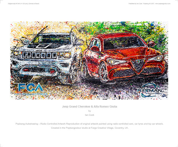 Alfa Romeo Giulia & Jeep Grand Cherokee - POPBANGCOLOUR Shop
