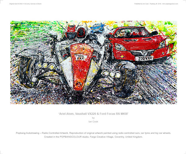 Ariel Atom, Vauxhall VX220 & Ford Focus RS MKIII - POPBANGCOLOUR Shop