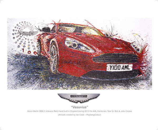 "Aston Martin DB9.2 ""Vesuvius"" (Volcano Red) - POPBANGCOLOUR Shop"