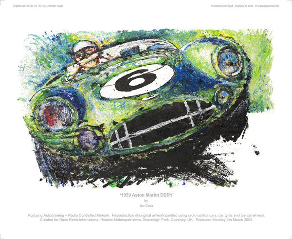 Aston Martin DBR1 1959 - POPBANGCOLOUR Shop