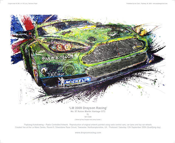 Aston Martin Vantage GT2 No.87 LM Drayson Racing 2009 - POPBANGCOLOUR Shop