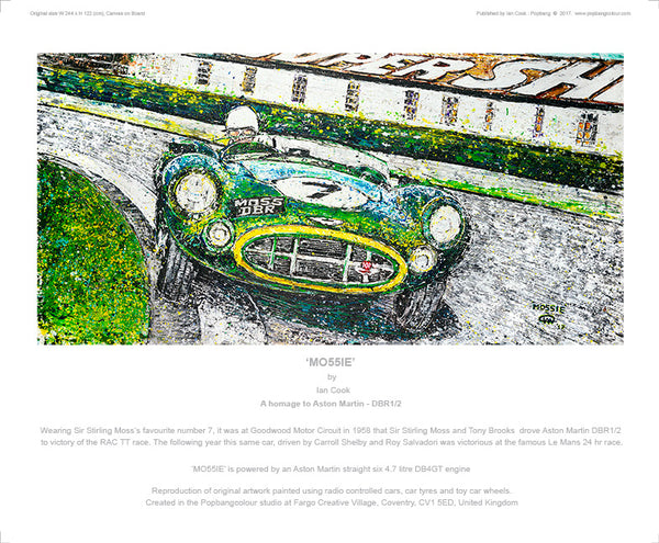 'MO55IE' - A homage to the Aston Martin DBR1/2 - POPBANGCOLOUR Shop