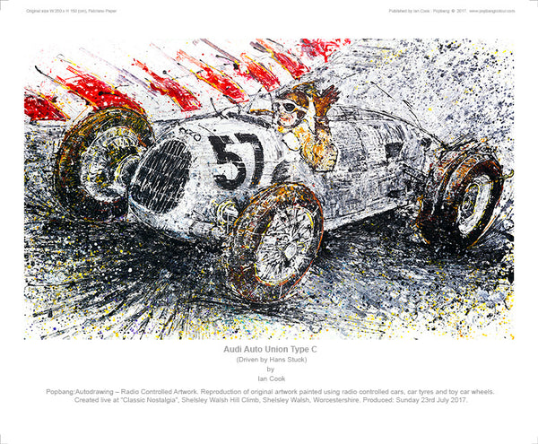 Audi Auto Union Type C driven by Hans Stuck - POPBANGCOLOUR Shop