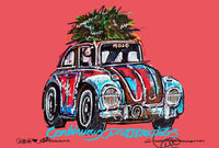 Volkswagen Beetle - 'Rat and Resto' | #ContinuousCar metal print | 30cm x 20cm