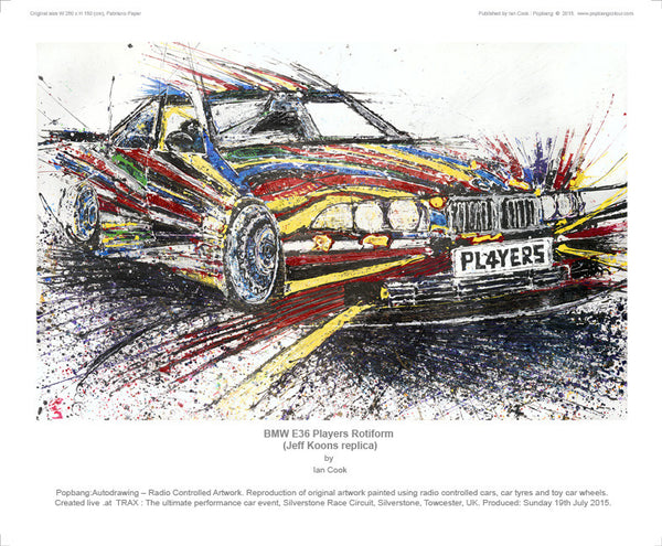 BMW E36 Players Rotiform (Jeff Koons replica) - POPBANGCOLOUR Shop