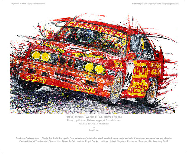 1988 Demon Tweeks BTCC BMW E30 M3 - POPBANGCOLOUR Shop