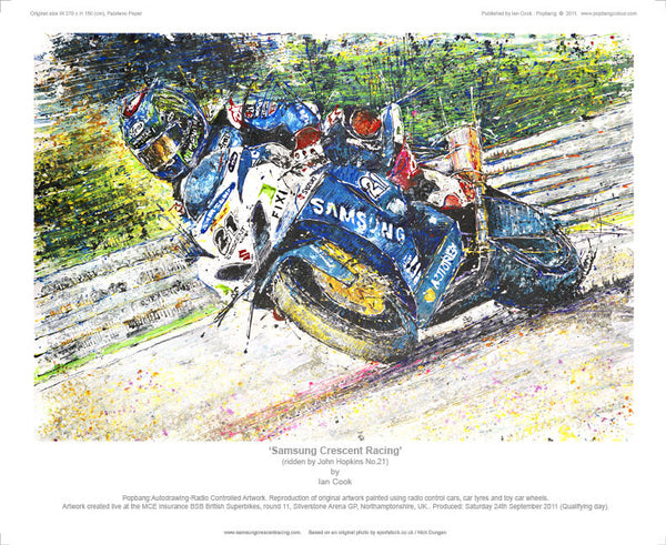 Suzuki Samsung Crescent British Super Bike (Hopkins No.21) - POPBANGCOLOUR Shop