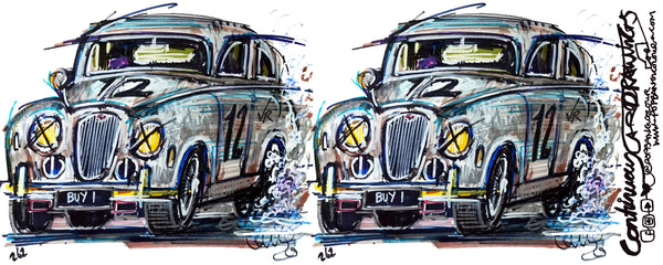 Jaguar MK1 'Buy1' Grant Williams (double image) |  #ContinuousCar | Mug