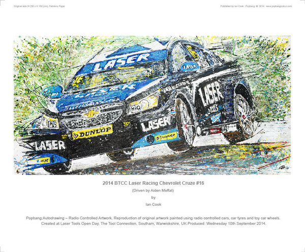 Chevrolet Cruze BTCC Laser Racing #16 (Aiden Moffat) 2014 - POPBANGCOLOUR Shop