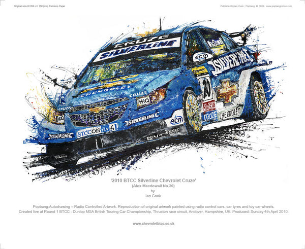 Chevrolet Cruze BTCC Silverline (Macdowall No.20) 2010 - POPBANGCOLOUR Shop
