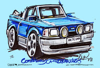 Ford Escort XR3I - Dub Club | #ContinuousCar metal print | 30cm x 20cm