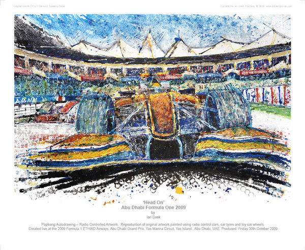 F1 Abu Dhabi 'Head On' 2009 - POPBANGCOLOUR Shop
