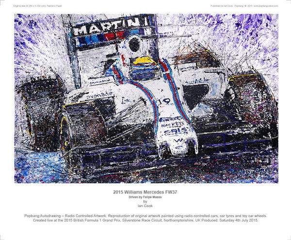 F1 Williams Mercedes FW37 (Massa) - POPBANGCOLOUR Shop
